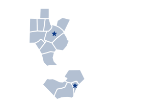 Map of service locations in North Carolina