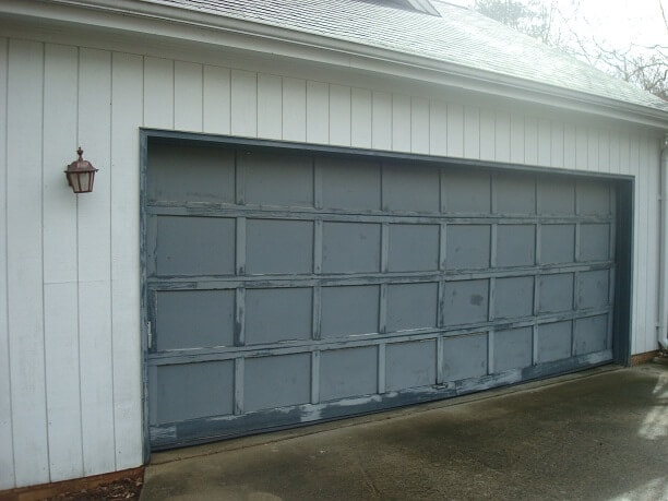 Before garage door