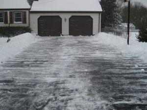 Snowy Driveway by Ben+Sam