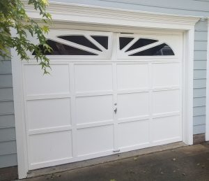 Recessed Panel Garage Door Project in Cary, NC - Before