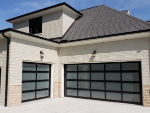 Glass Garage Doors Installation in Cary, NC.