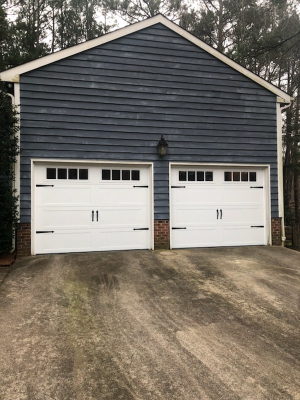 garage door after