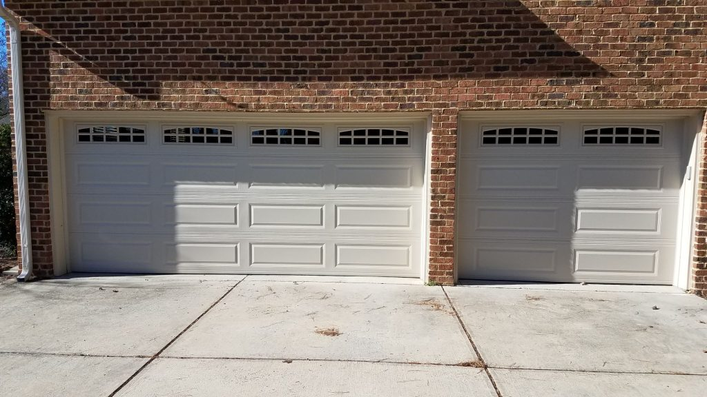 Long Raised Panel Garage Door Installation Raleigh Nc