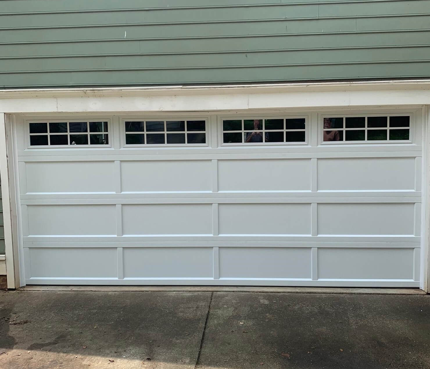 overlay recessed panel garage door