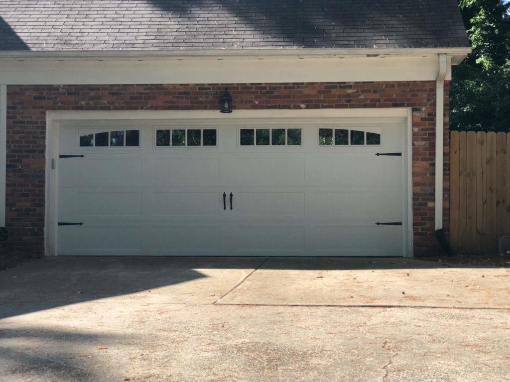 long carriage garage door