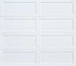 long recessed panel garage door