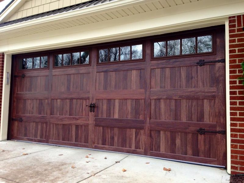 CHI accent wood tones garage door