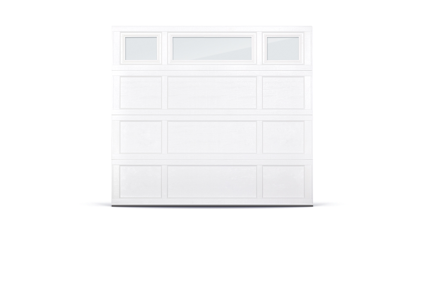 CHI overlay recessed panel garage door
