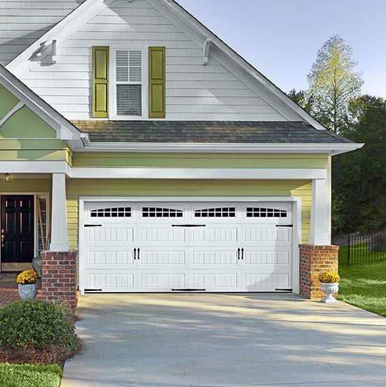 white double garage door