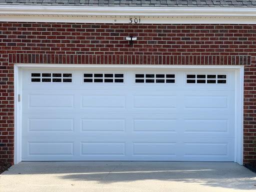 raised long panel garage door