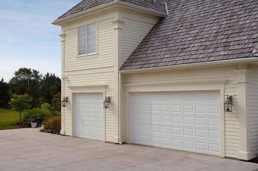 raised short panel garage door