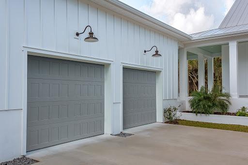 short recessed panel garage door