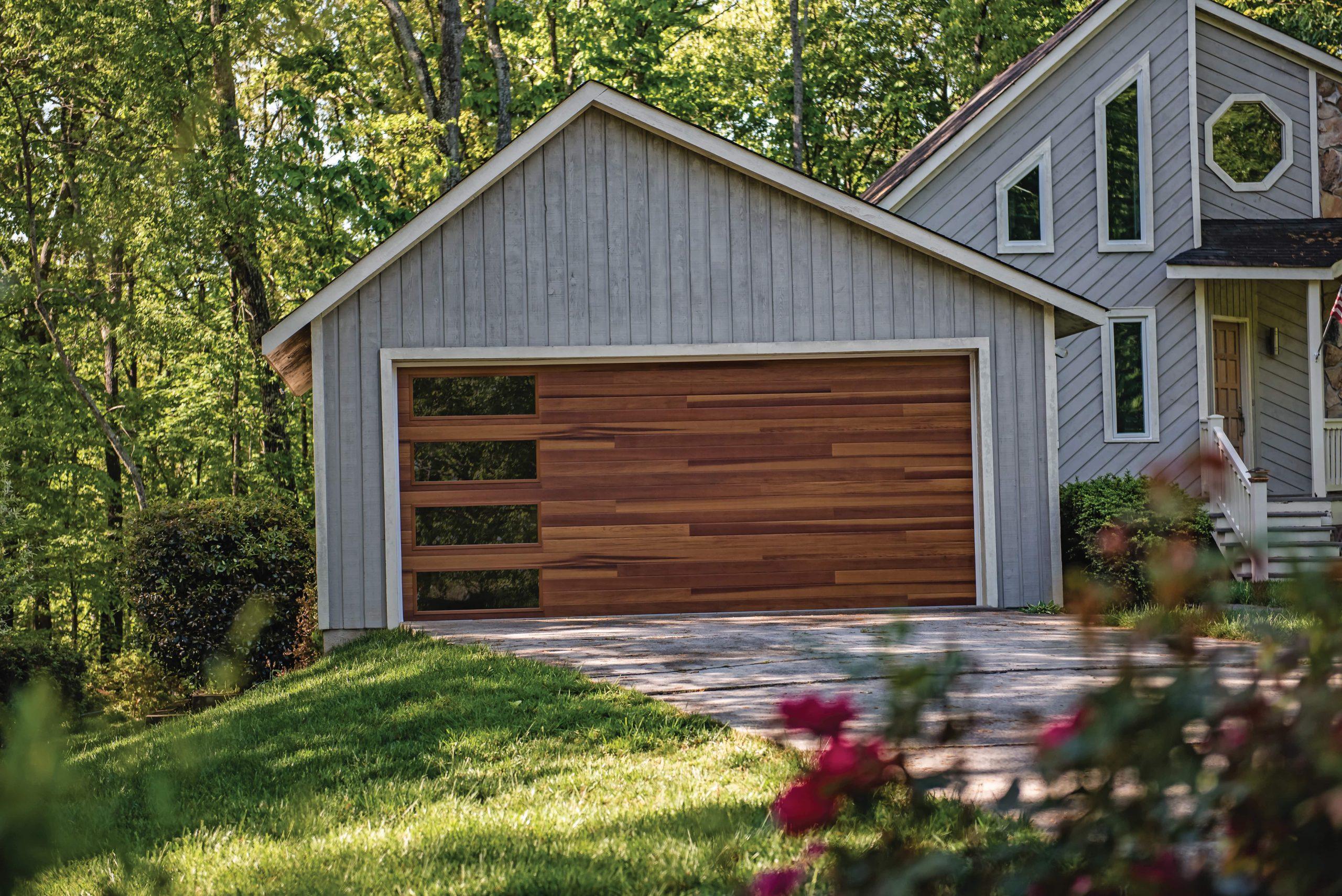accent woodtones garage door