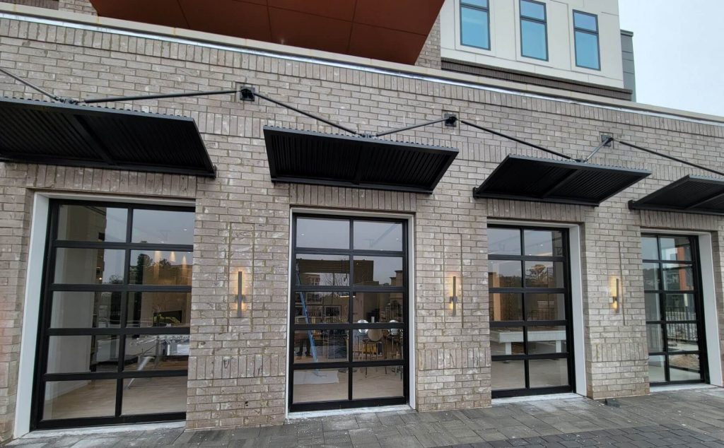 glass pane garage doors