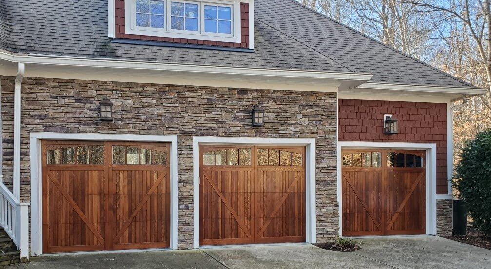 wood pane garage doors