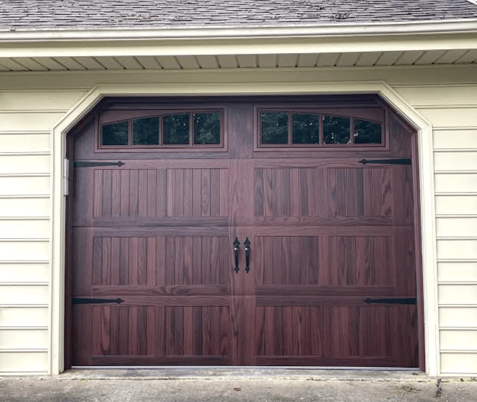 mahogany garage door