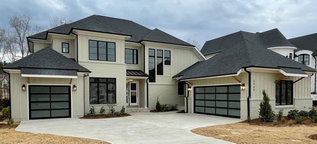 black pane garage doors