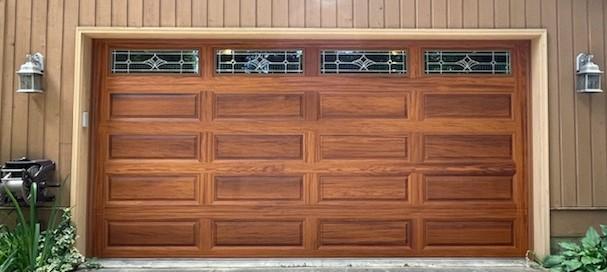 tan garage door